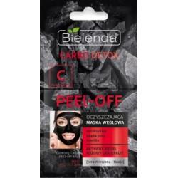 Bielenda Carbo-Detox // Oczyszczajaca maska weglowa Peel-off // Detoksykuje,zweza pory, nawilza // cera mieszana i tlusta