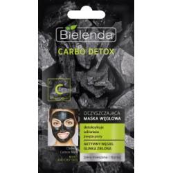 Bielenda Carbo Detox C /Oczyszczajaca maska weglowa /Detoksykuje,odswieza,zweza pory /Aktywny wegiel,glinka zielona