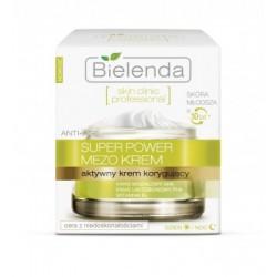 BIELENDA Skin clinic professional SUPER POWER MEZO CREAM // Aktywny krem korygujacy Anti -age na dzien i na noc
