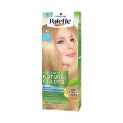PALETTE PERMANENT NATURAL COLORS / Pastelowy czysty blond 295 /With 4 oils+jojoba /Ochrona,pielegnacja,rozjasnianie do 2 tonow