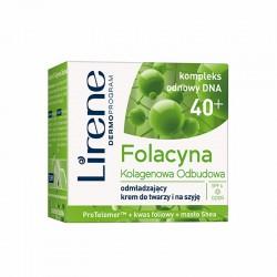Lirene Folacyna 40+ // Kolagenowa Odbudowa // Odmladzajacy krem do twarzy i na szyje na dzien // SPF 6