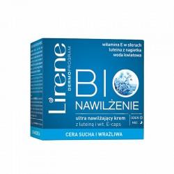 Lirene Bio nawilzenie // Ultra nawilzajacy krem z luteina i wit. E w kapsulkach // Cera sucha i wrazliwa // dzien/noc