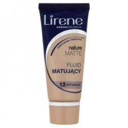 LIRENE NATURE MATTE Fluid Matujacy // 12 Naturalny // Wzmocniona trwalosc