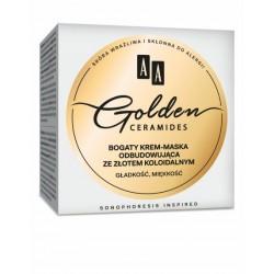 AA Golden Ceramides // Bogaty krem-maska odbudowujaca ze zlotem koloidalnym // Gladkosc,miekkosc