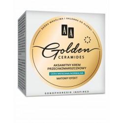 AA Golden Ceramides // Aksamitny krem przeciwzmarszczkowy // Cera mieszana, normalna // Matowy efekt