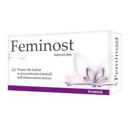 FEMINOST Suplement diety / Pomoc dla kobiet w utrzymaniu kontroli nad oddawaniem moczu / 56 tab. powlekanych