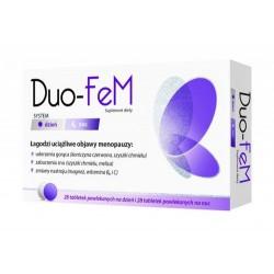 DUO-FEM Suplement diety, system dzien i noc / Lagodzi uciazliwe objawy menopauzy:uderzenia goraca,zaburzenia snu,zmiany nastroju