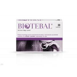 Biotebal 30 tabletek // Wspomaga procesy powstawania keratyny i roznicowania sie komorek naskorka oraz wlosow i paznokci