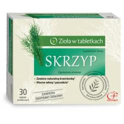SKRZYP ziola w tabletkach // Mocne wlosy i paznokcie, zawiera naturalna krzemionke // 30 tabletek powlekanych