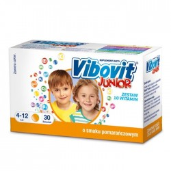 VIBOVIT JUNIOR o smaku pomaranczowym // Zestaw 10 witamin // 4-12 lat // 30 saszetek
