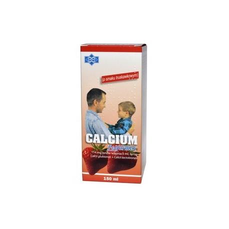 CALCIUM w syropie o smaku truskawkowym 150ml