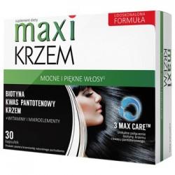 MAXI KRZEM Mocne i piekne wlosy // Biotyna,kwas pantotenowy,krzemionka+witaminy i mikroelementy // 30 kapsulek