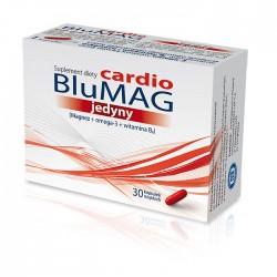 BLUMAG JEDYNY Cardio // Magnez +omega3+witamina B6 // Suplement diety // 30 kapsulek miekkich