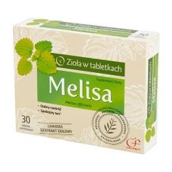 MELISA ziola w tabletkach // Dobry nastroj, spokojny sen / 30 tabletek powlekanych