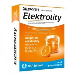 ELEKTROLITY /Do postepowania dietetycznego w biegunce,w ktorym uzupelnia elektrolity utracone podczas biegunki/smak pomaranczowy