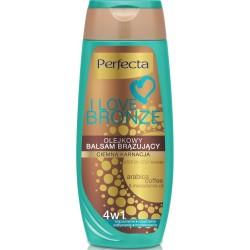 Perfecta I LOVE BRONZE / Olejkowy balsam brazujacy / Ciemna karnacja/ 4w1 brazowienie,nawilzenie,odzywienie,modelowanie