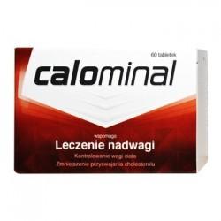 CALOMINAL wspomaga Leczenie nadwagi // Kontrolowanie wagi ciala, zmniejszenie przyswajania cholesterolu // 60 tabletek
