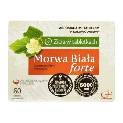 Morwa Biala Forte// Ziola w tabletkach // WSPOMAGA METABOLIZM WEGLOWODANOW // 60 tab. powlekanych