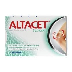 ALTACET 1g TABLETKI // Lek na obrzeki po stluczeniach // Tylko do stosowania na skore // 6 TABLETEK