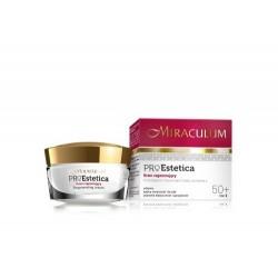 Miraculum PRO-ESTETICA 50 + / Krem regenerujacy na noc / Odzywia,splyca zmarszczki i bruzdy, poprawia elastycznosc i sprezystosc