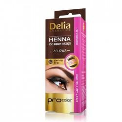 Delia HENNA do brwi i rzes // ZELOWA kolor 3.0 CIEMNY BRAZ // Profesjonalna jakosc, innowacja