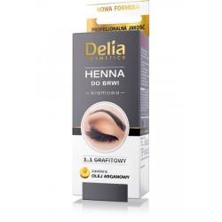 Delia HENNA do brwi kremowa 1.1 GRAFITOWY // zawiera OLEJ ARGANOWY
