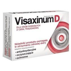 VISAXINUM D /Dla osob doroslych z cera tradzikowa /Pomaga w utrzymaniu zdrowej skory/Dzialanie: antyoksydacyjne,oczyszczajace