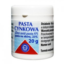 PASTA CYNKOWA 25%, pasta na skore // 20g