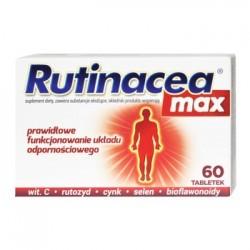 RUTINACEA MAX // Prawidlowe funkcjonowanie ukladu odpornosciowego // Wit. C, rutozyd, cynk, selen, bioflawonoidy // 60 tab.