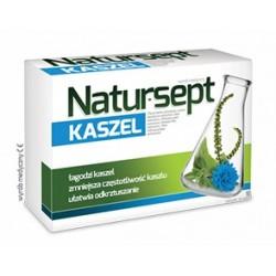 NATUR-SEPT Kaszel // Lagodzi kaszel, zmniejsza czestotliwosc kaszlu, ulatwia odkrztuszanie // 18 pastylek do ssania