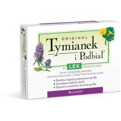 TYMIANEK I PODBIAL // Tradycyjny produkt leczniczy roslinny stosowany w celu lagodzenia chrypki i kaszlu // 16 pastylek