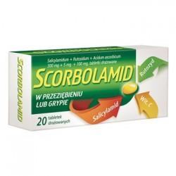 SCORBOLAMID w przeziebieniu i grypie // Salicylamid, rutozyd, wit. C // 20 tabletek drazowanych