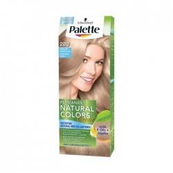 PALETTE PERMANENT NATURAL COLORS Pastelowy rozany blond 220 /With 4 Oils+Jojoba /Ochrona,pielegnacja,rozjasnianie do 2-4 tonow