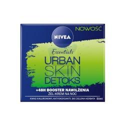Nivea Essentials Urban Skin Detoks /Zel-krem na noc /48h Booster nawilzenia /Kwas hialuronowy+antyoksydanty,bio zielona herbata