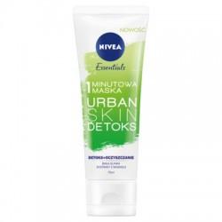 Nivea Essentials // 1 minutowa maska Urban skin detoks // Detoks+oczyszczanie // Biala glinka, ekstrakt z magnolii // 75 ml