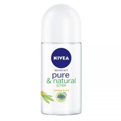NIVEA Roll on for women PURE & NATURAL Action // Jasmine scent 48h // Pozwala skorze oddychac