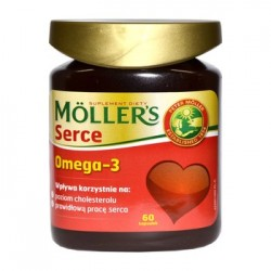 MOLLER'S Serce Omega-3/ Suplement diety // Wplywa korzystnie na poziom cholesterolu i prawidlowa prace serca