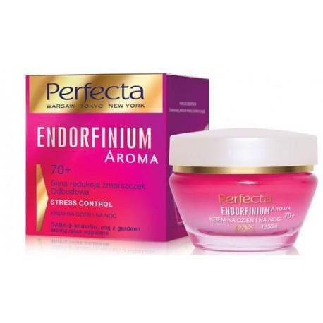 Perfecta ENDORFINIUM AROMA// 70+ Silna redukcja zmarszczek Odbudowa// Krem na dzien i na noc//STRESS CONTROL