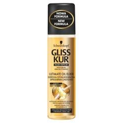 Gliss Kur Ultimate Oil Elixir// Ekspresowa odzywka regeneracyjna// Wlosy zniszczone, przesuszone