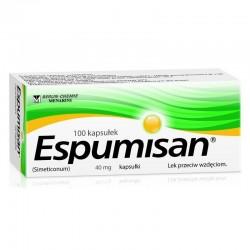 ESPUMISAN 40 mg //  Lek przeciw wzdeciom // 100 kaps.