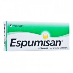 ESPUMISAN 40 mg //  Lek przeciw wzdeciom // 25 kaps.