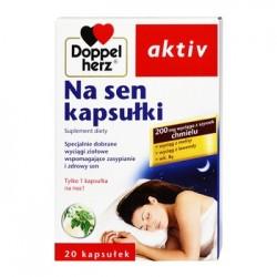 DOPPELHERZ AKTIV NA SEN kapsulki // Specjalnie dobrane wyciagi ziolowe wspomagajace zasypianie i zdrowy sen //20 kaps