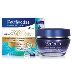 Perfecta Odnowa Genow Mlodosci 45+/Napinajaco-przeciwzmarszczkowy mezo-krem/Mezo-lift peptyd,algi wakame,oxylina C+E/dzien,noc