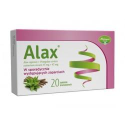ALAX / W sporadycznie wystepujacych zaparciach / 20 tabletek drazowanych