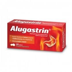 ALUGASTRIN // Lagodzi dolegliwosci bolowe zwiazane z nadkwasnoscia soku zoladkowego, oslania przelyk i zoladek /20tab