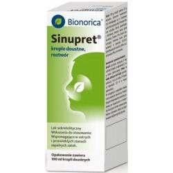 Bionorica SINUPRET // Wspomagajaco w ostrych i przewleklych stanach zapalnych zatok //100 ml kropli doustnych