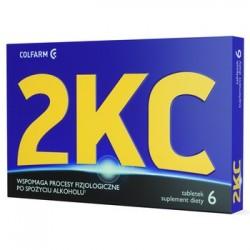 2KC // Wspomaga procesy fizjologiczne po spozyciu alkoholu // Suplement diety // 6 tabletek