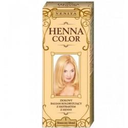 VENITA HENNA COLOR Ziolowy balsam koloryzujacy // SLONECZNY BLOND 1
