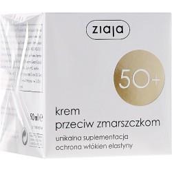 ZIAJA 50+ Krem przeciw zmarszczkom / Unikalna suplementacja, ochrona wlokien elastyny