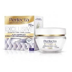 PERFECTA EXCLUSIVE 70+ / Diamentowa odbudowa / Nutri-Ujedrniajacy krem przeciwzmarszczkowy // na dzien i noc